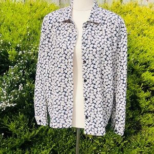 Sussan long sleeves floral 100% Polyester Blouse